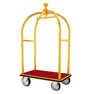 Stainless Steel Luggage Trolley for Hotel Lobby (XL-01)