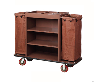 Paint Hotel Laundry Trolley Cleaning Cart with Separate Fields FW-01