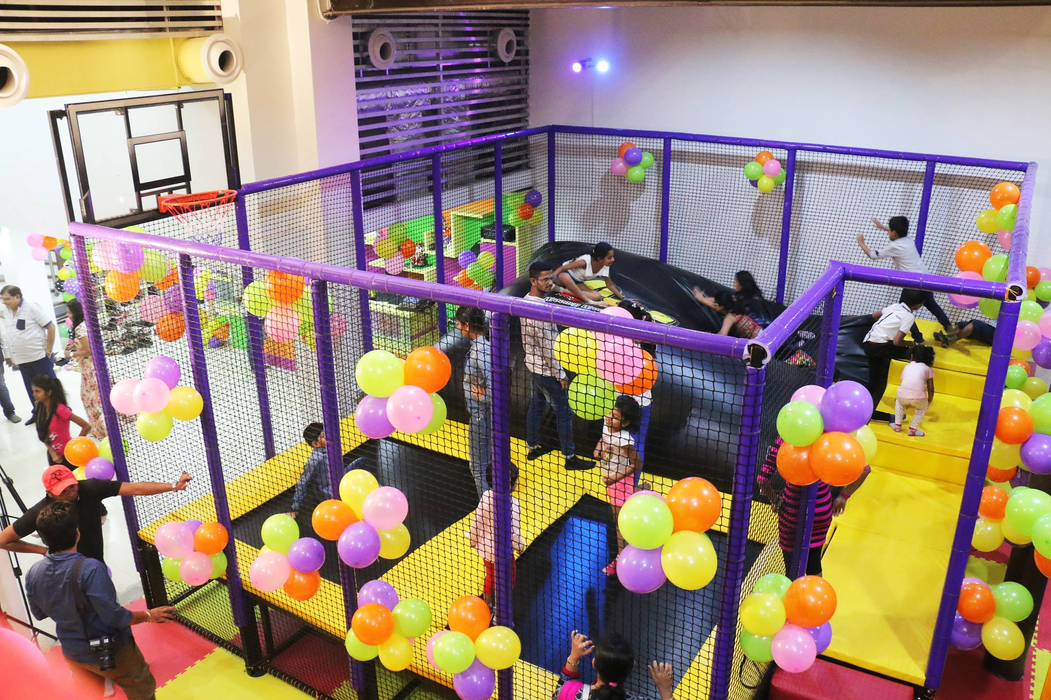 A new kids indoor play center project in india mich for Kids bed with play area