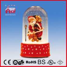(P18030E) Snowing Decoration Christmas Snow Globe with Transparent Case