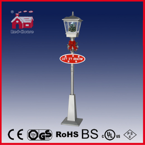 (LV180S-SS) All Silver Rainproof Outdoor Street Light with Snow and Music