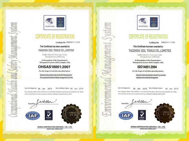 CERTIFICATE OF REGISTRATION ISO14001 2004