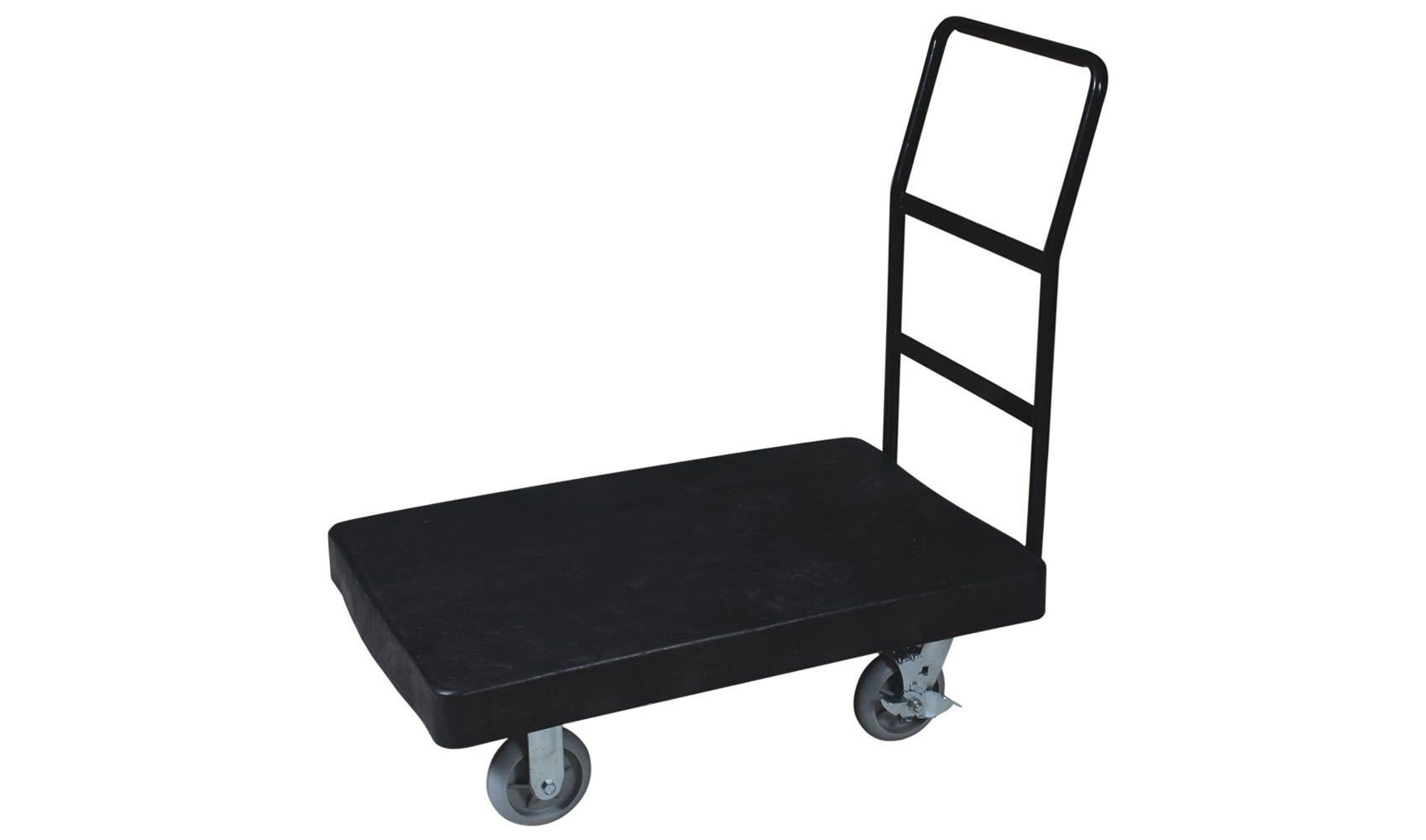 Black Plastic Hand Trolley