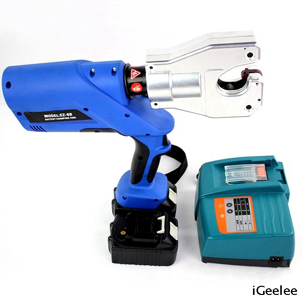 Battery Powered Wire Crimping Tool EZ-6B for Copper Lug And Terminals with Battery Power And No Dies Required,range Up To 240mm2