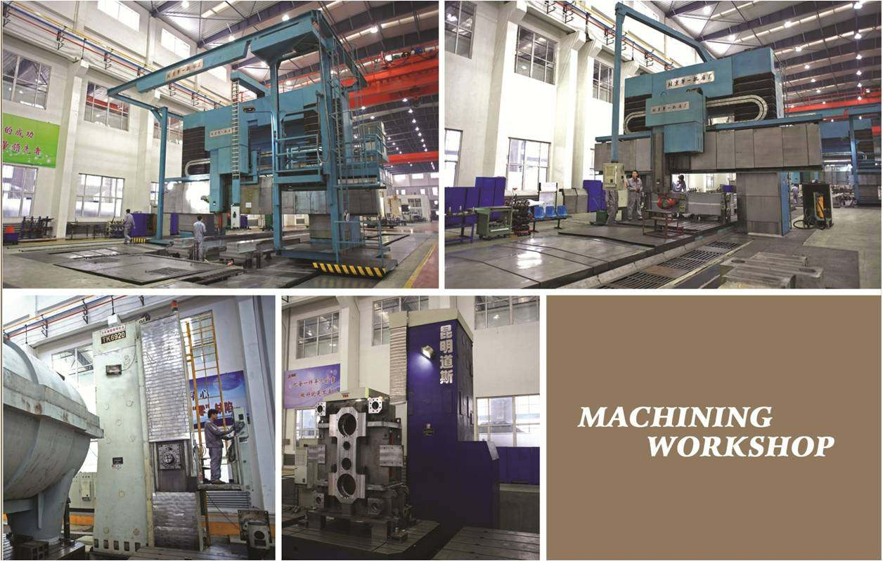 machines in big parts machining workshop