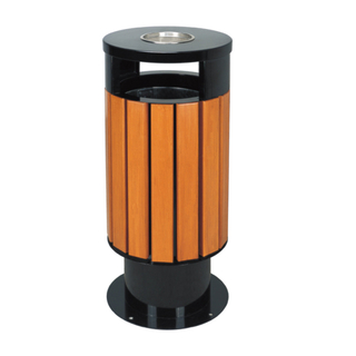 Plastic Wood Waste Bin for Garden And Street HW-02