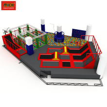 Trampoline Amusement park with big foam pit