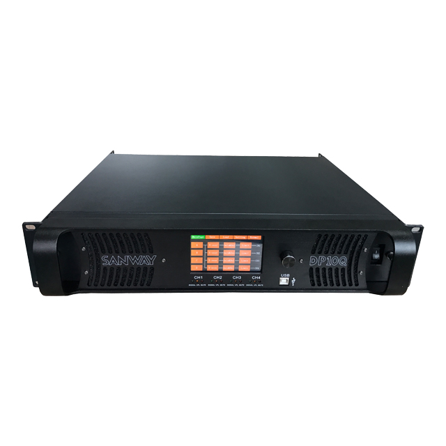 Sanway 4 Channel Digital DSP Audio Power Amplifier dengan Layar Sentuh DP10Q
