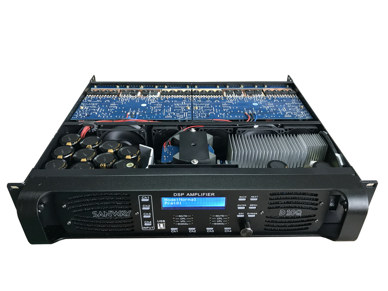 D10Q sound audio digital dsp power amplifier