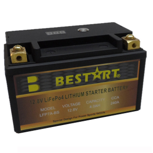 12.8V 4ah LiFePO4 Motorcycle Storage Battery Lithium Ion Battery LFP7A-BS