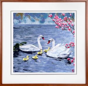 Embroider painting for home decoration