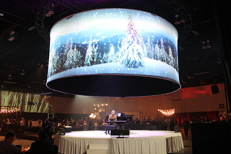 360 Degree Large Curved Projection Screen/Curved Frame Screen for HD Cinema Simulator System