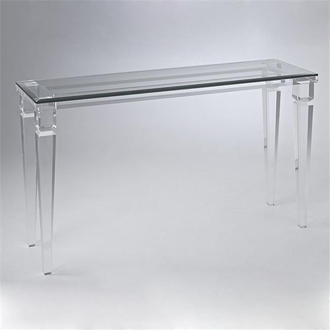 Corner Table Acrylic Console Tall