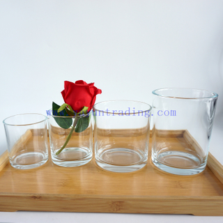 2020 hot sale 200ml 300ml 500ml and 650ml clear candle jars for Christmas