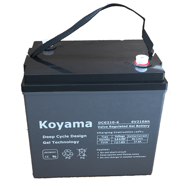 6V210AH Deep Cycle Gel Battery DCG210-6