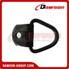 PPE-3A BS 1360kgs/3000lbs Welded Black Mounted D Ring - Pan Fitting