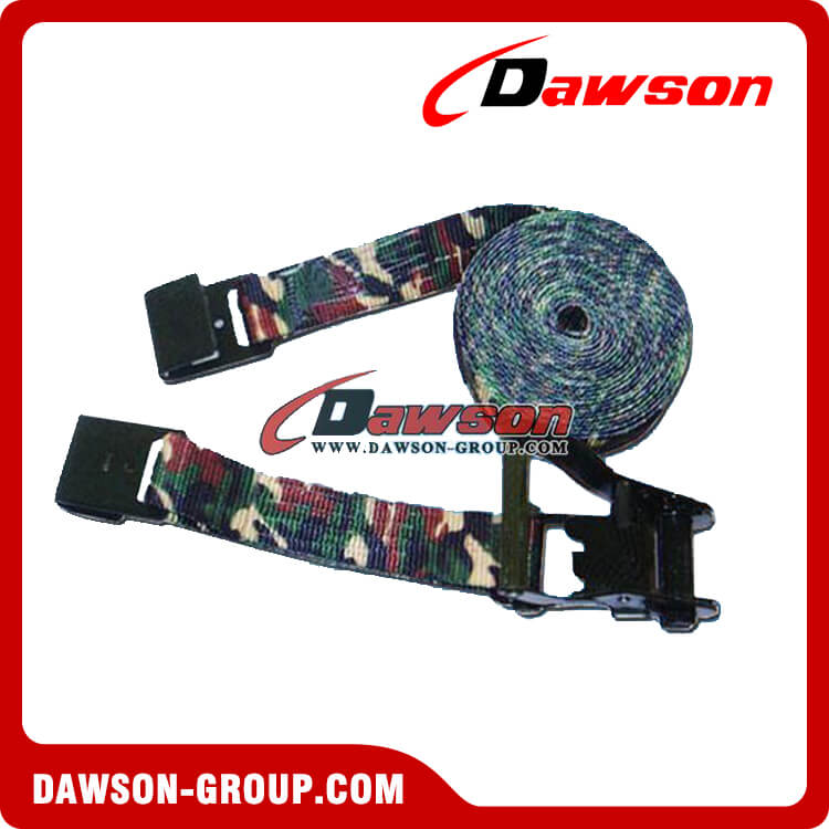 Military Camouflage Webbing Ratchet Tie Down Straps