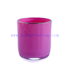 Luxury inside Spray Color Empty Votive Glass Candle Jar with Gold Rim