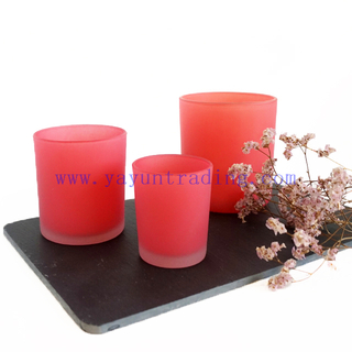Wholesale Custom Jar Holder Luxury Pink Glass Candle Jars