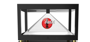 "19"" Holographic Display 3D Pyramid 4 Side View"