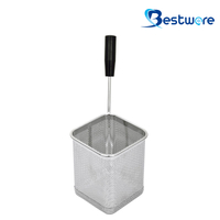 Single Handle SS Pasta Basket (Square) - BTW60D448