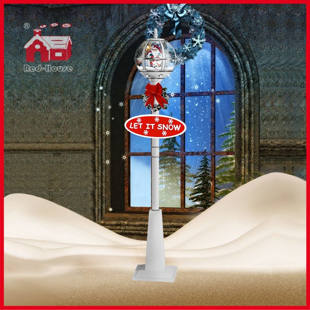 (LV30175C-WSW11) Snowing Christmas Decorative Street Light with LEDs and Top Lace