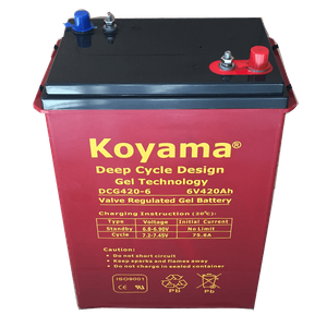 6V420AH Deep Cycle Gel Battery DCG420-6DT
