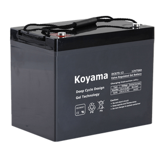 12V75AH Deep Cycle Gel Battery DCG75-12 Group 24