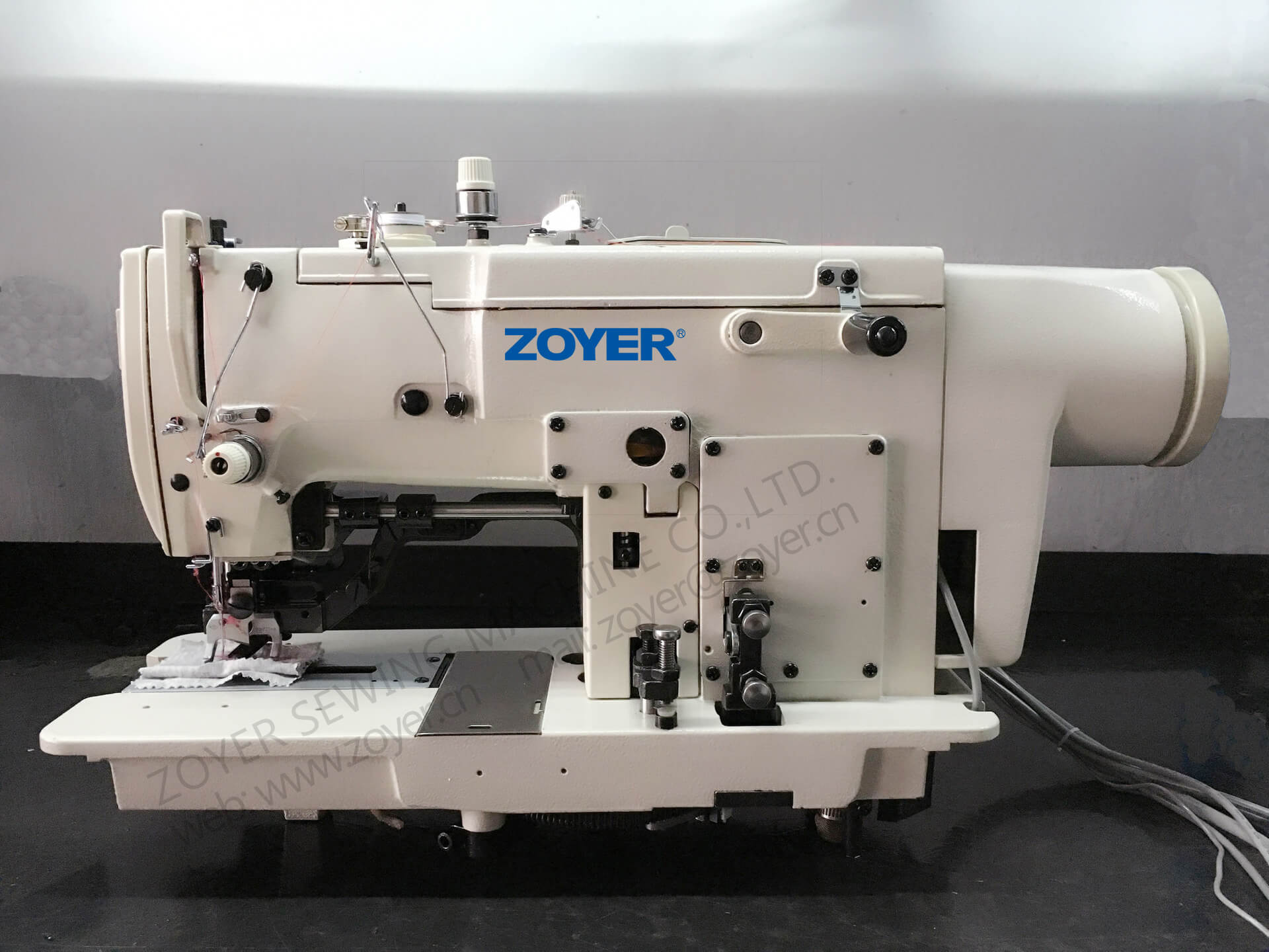 ZY781 zoyer High speed lockstitch straight button holing sewing machine