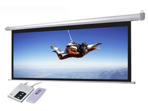Large Customized Projector Electric Projection Screen With Remote Control