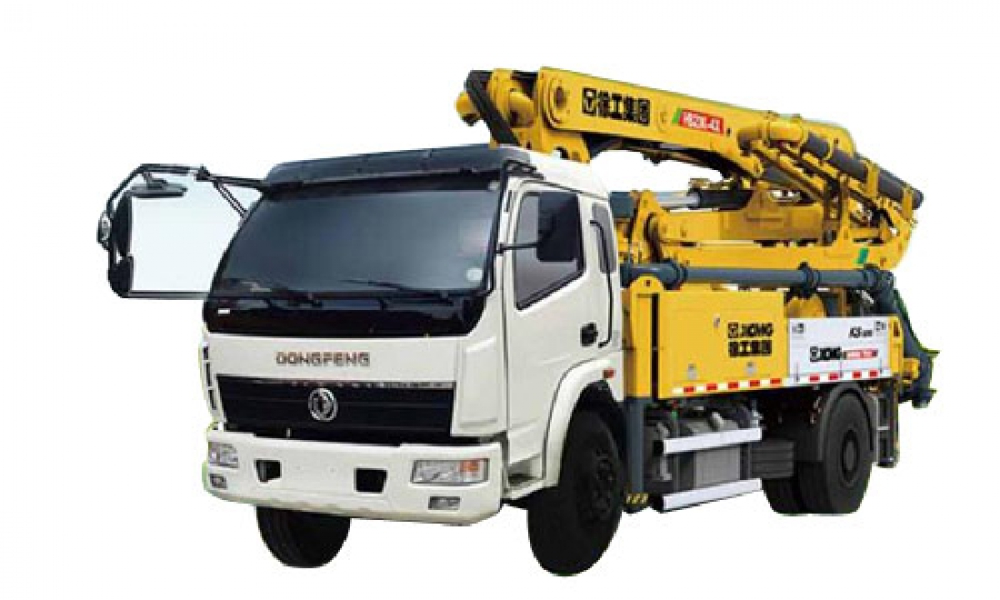 HB56K XCMG Truck Mounted Concrete Pump Reach height: 56m Engine model: VOLVO D13 Nation III GBⅢ,,324kw Chassis model: CYH51Y Actros 4141 HB60K XCMG Truck Mounted Concrete Pump