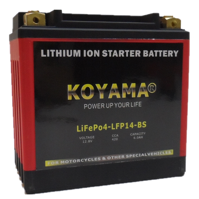 12.8V 6ah Factory OEM LiFePO4 Motorcycle Battery LFP14-BS