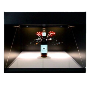 180 degree 42 inch 3D Hologram Pyramid Display Showcase , Hologram Box For Advertising