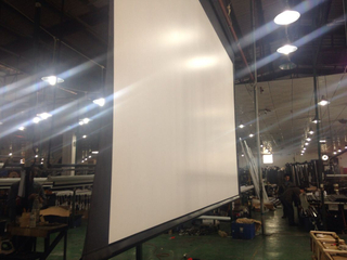 16:10 large projector screens electric projection screen 450 inch big motorized projector screen fabric
