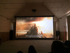 Electric Large Projection Screen Projector screen with Tubular Motor, Customized, Matte White,Remote Control