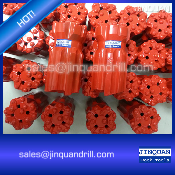 "T38 button bit 76mm (3"") retract drop center (spherical buttons)"