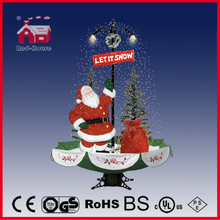 (40110U170-ST3-GS) Snowing Christmas Decorations with Umbrella Base