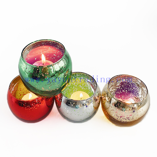 Custom Electroplated Glass Candle Jar Empty Candle Holder for Candle Making