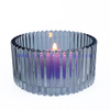 Luxury Empty Electroplated Dome Glass Candle Jars with Lid Wholesale
