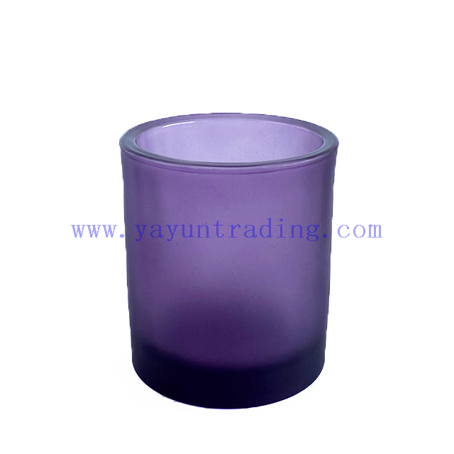 Glass Candle Jar Colored Luxury Custom Empty Glass Candle Vessel