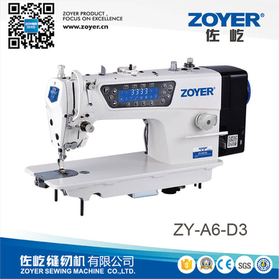 ZY-A6-D3 zoyer speaking direct drive auto trimmer high speed lockstitch industrial sewing machine