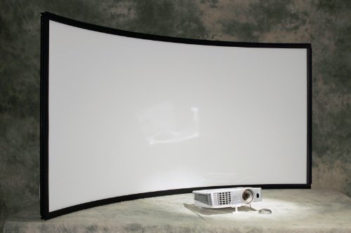 Large Curved Projection Screen for Flight Simulator System