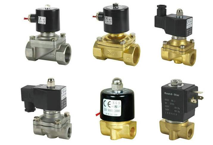 Step-by-step direct-acting solenoid valve