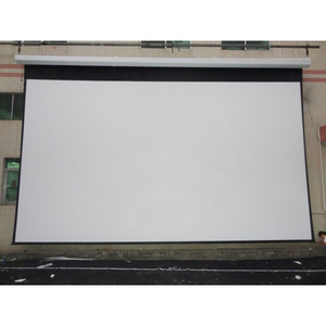 Best cheap large size projector screen Customized Electric Projection Screen Customizable Mental bead Fabric for sale