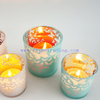 Christmas home decorative votive silver mercury glass tealight candle holders 6oz 13oz