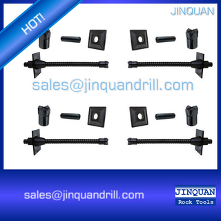 Self-Drilling Rock Anchor Bolt Rod Anchoring Bit Nut Plate Couplings