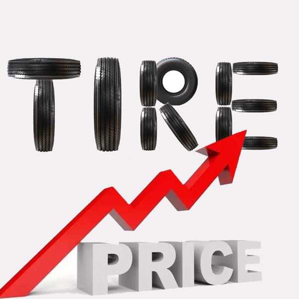 The tire price increase trend is coming