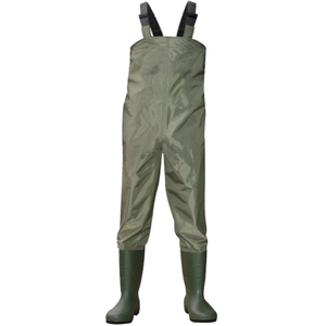 CW001 Water Proof Polyester PVC Fishing Chest Waders with Pvc Work Boots