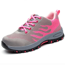SP012 pink fashionable women sport safety work shoe