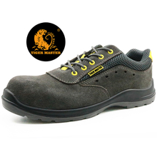 Suede leather metal free composite toe italian breathable safety shoes sport